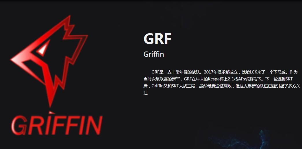 《英雄联盟》GRF战队介绍