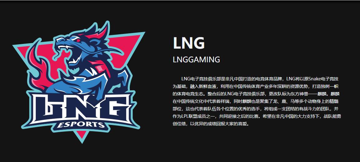 《英雄联盟》LNG战队介绍