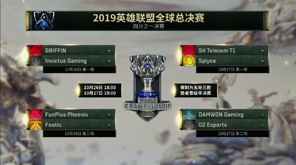 《LOL》S9淘汰赛LPL抽到好签!iG对上GRF FPX挑战FNC