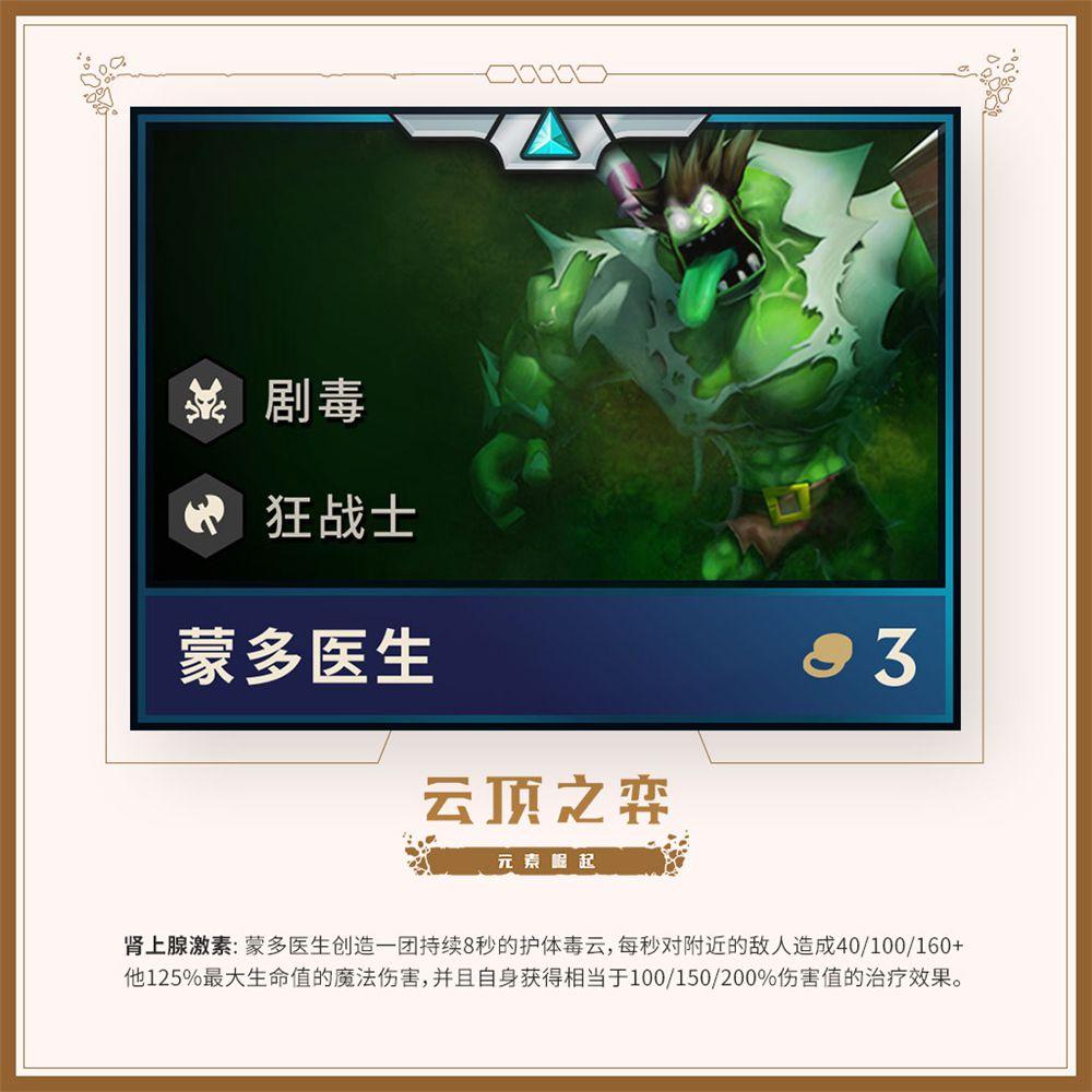 《英雄联盟》云顶之弈元素崛起上线 加入全新羁绊和英雄