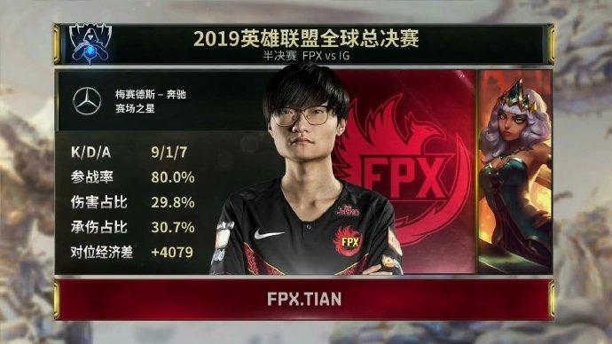 《LOL》S9四强半决赛首场 FPX 3:1战胜IG