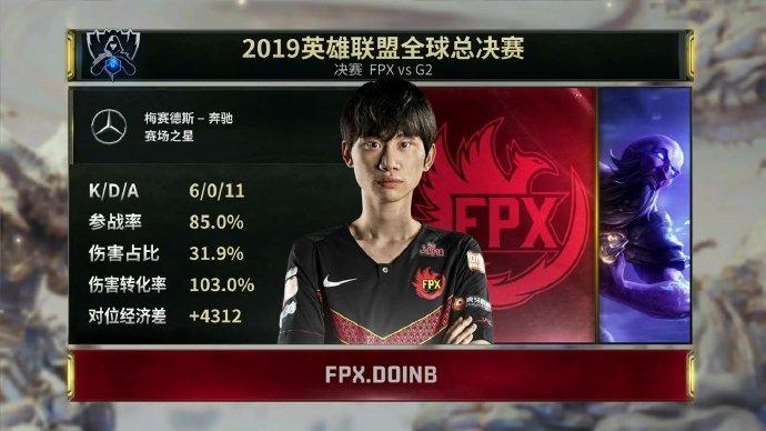 恭喜FPX!《LOL》S9总决赛FPX3:0战胜G2获冠军