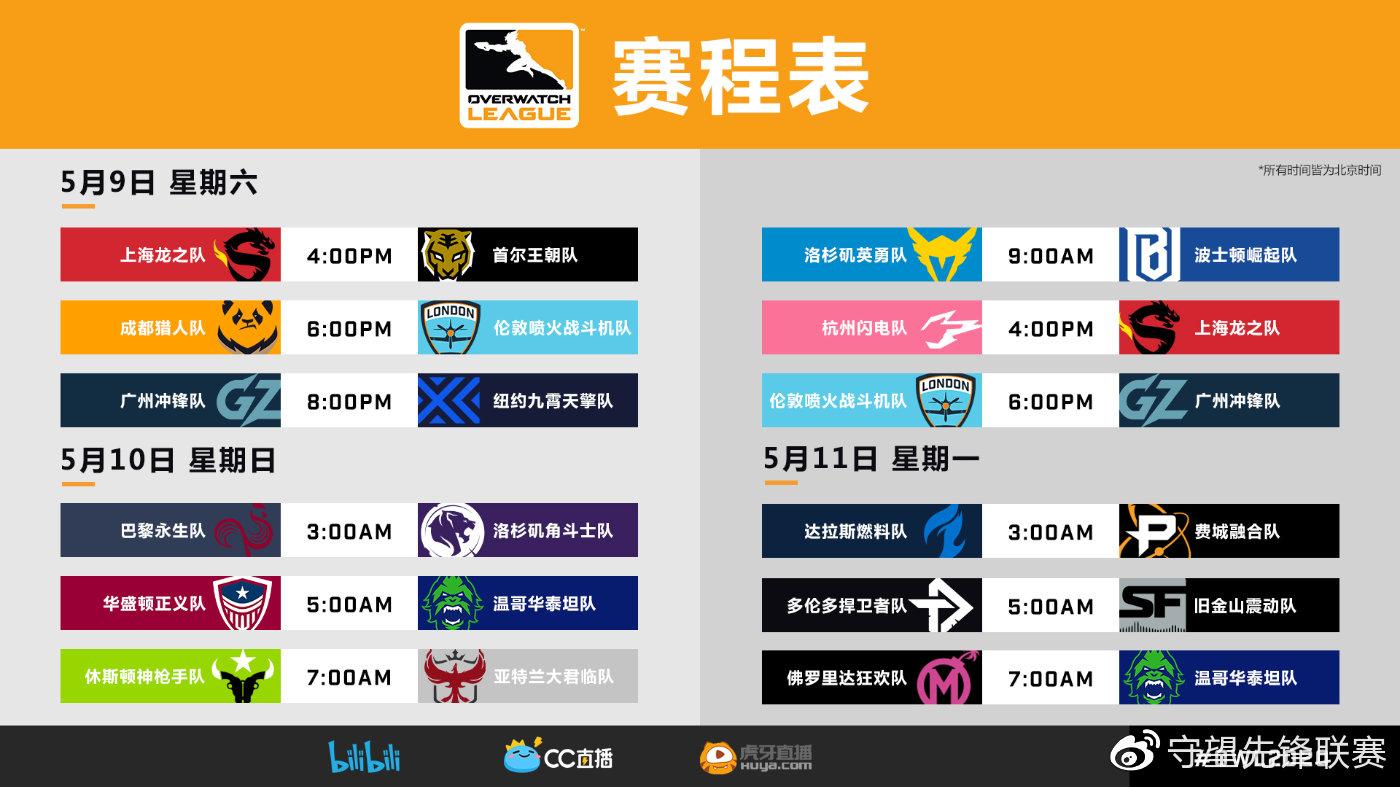 《守望先锋》5月份赛程公开 举办全新单败淘汰制区域锦标赛
