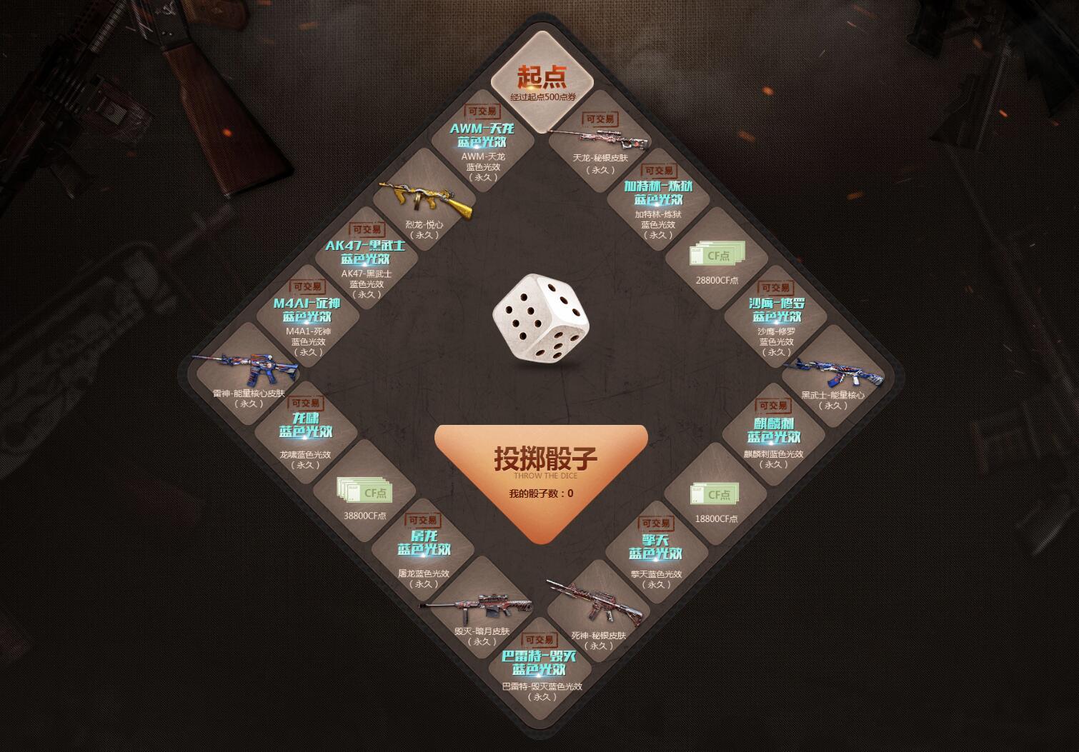 《穿越火线》10月幸运骰子,道具点券来袭
