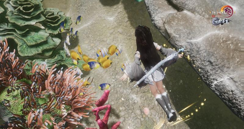 海洋生物品种繁多 《剑网3》东海坐骑交通首曝