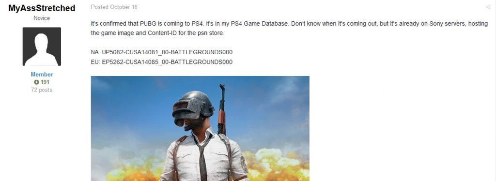 传《绝地求生》将于12月登陆PS4