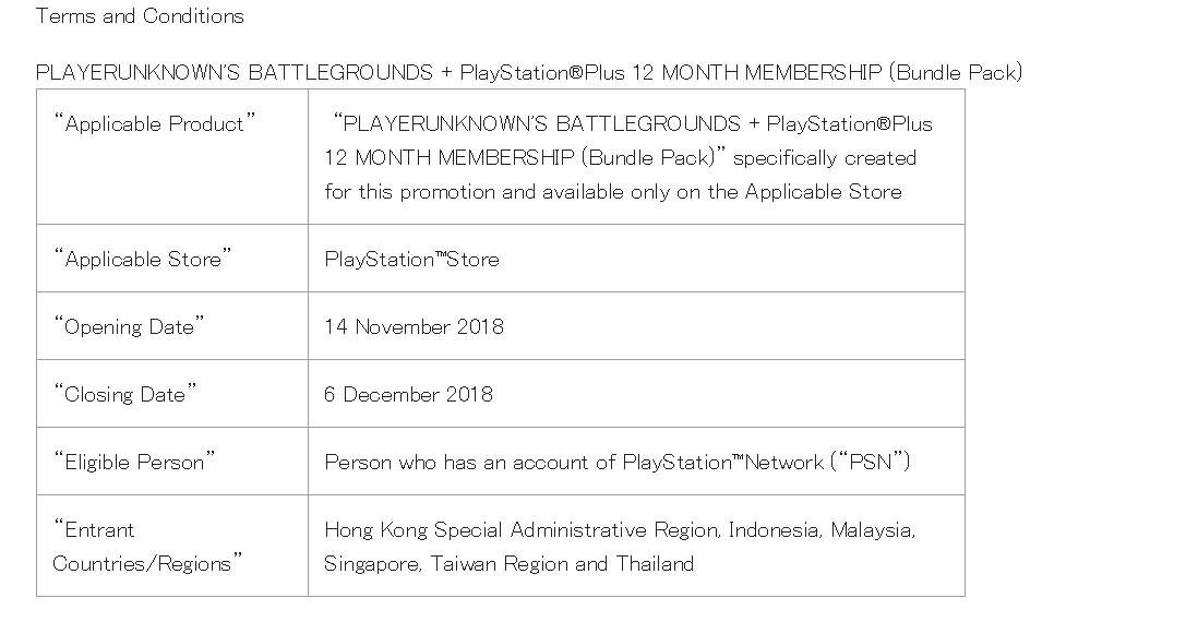 《绝地求生》PS4版确定!港服官网公布《绝地求生》捆绑包