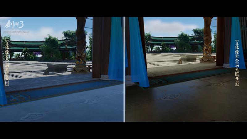 《剑网3》全主城昼夜实录大片 VXGI绝美光照首秀