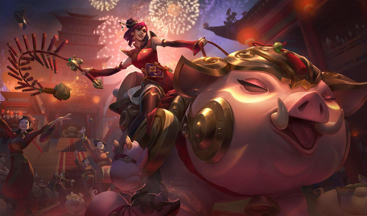 金猪贺岁 英雄联盟猪年新春皮肤及情人节皮肤一览