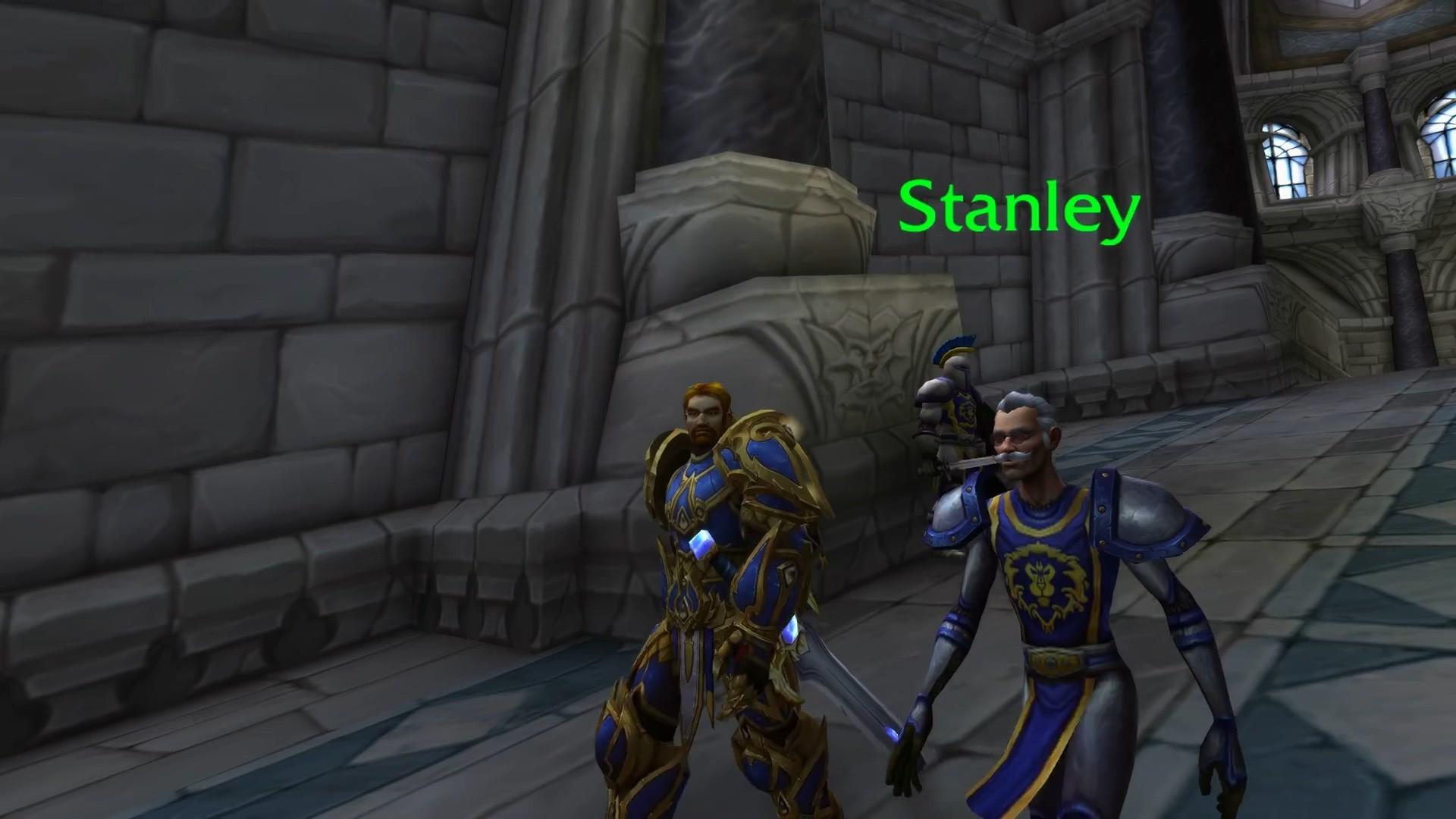 《魔兽世界》暴风城出现斯坦李 老爷子化身NPC巡视主城