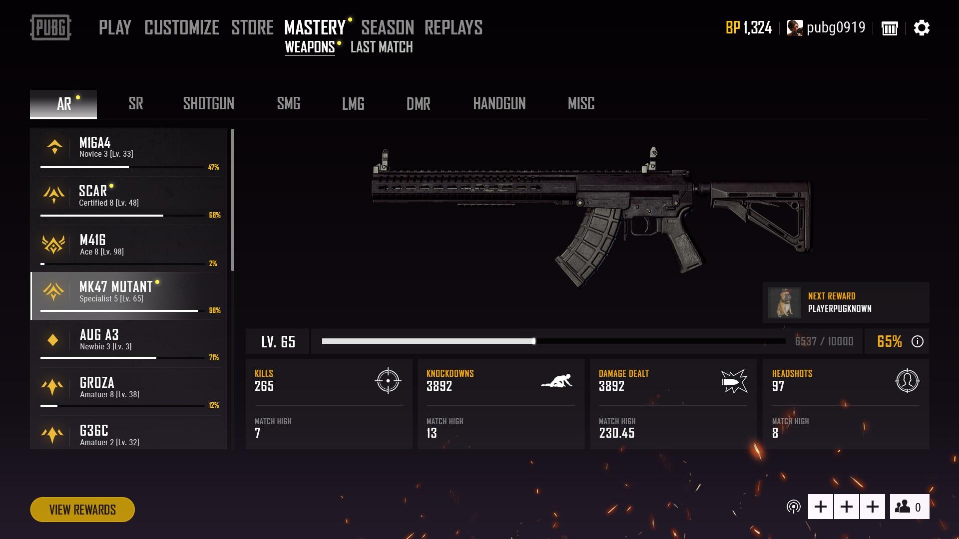 《绝地求生大逃杀》发布28版大更新 武器熟练度系统上线