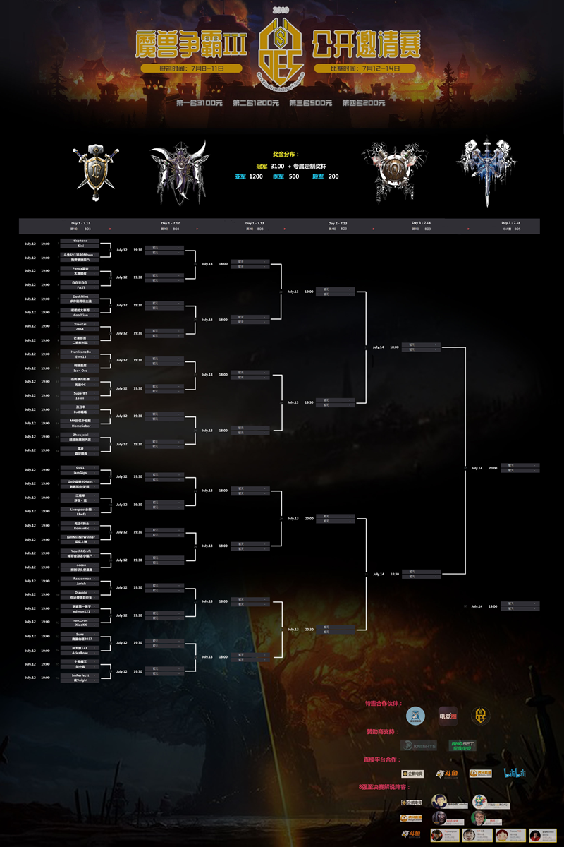 OES魔兽争霸III公开邀请赛开赛在即  为War3助威!