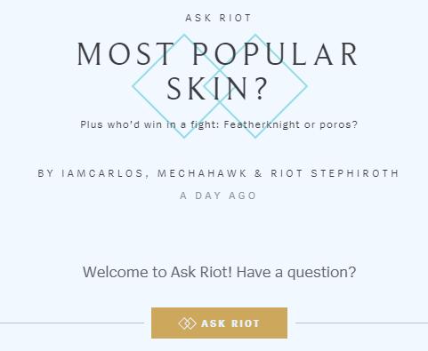 拳头官方趣味问答 《英雄联盟》最受欢迎皮肤是哪个?