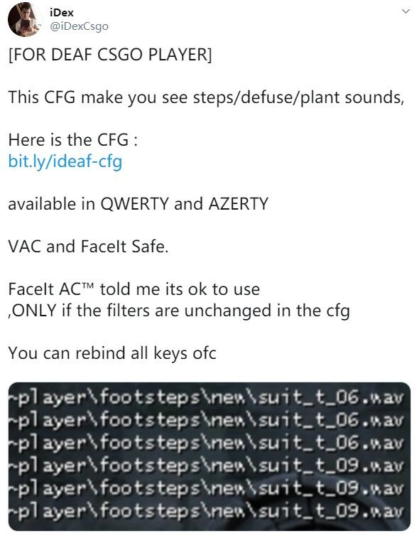 《CS:GO》听障玩家有福了 大神制作声音文字化CFG
