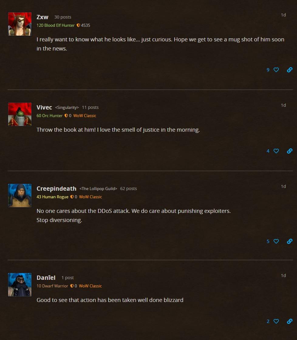 圣光制裁 攻击《魔兽世界》怀旧服务器的嫌疑人被捕