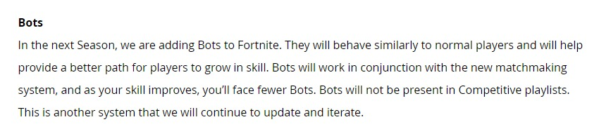 《堡垒之夜》新赛季将增加AI玩家 水平提升才能遇见更多真人