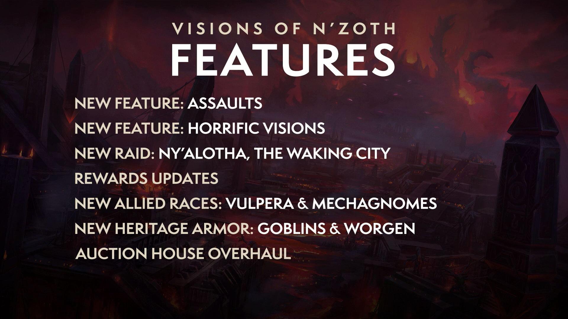 暴雪公布《魔兽世界》8.3版本内容:恩佐斯的异象