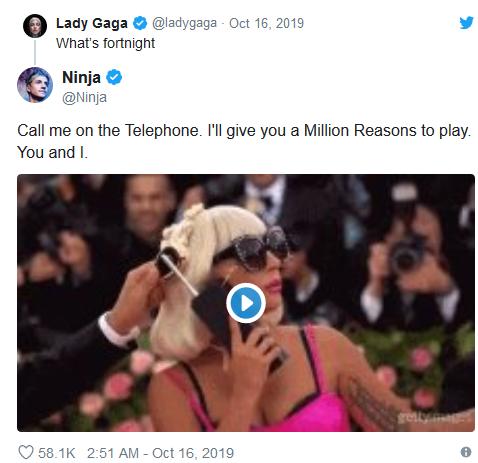 Ladygaga发推询问《堡垒之夜》和Ninja 国外网友已疯!
