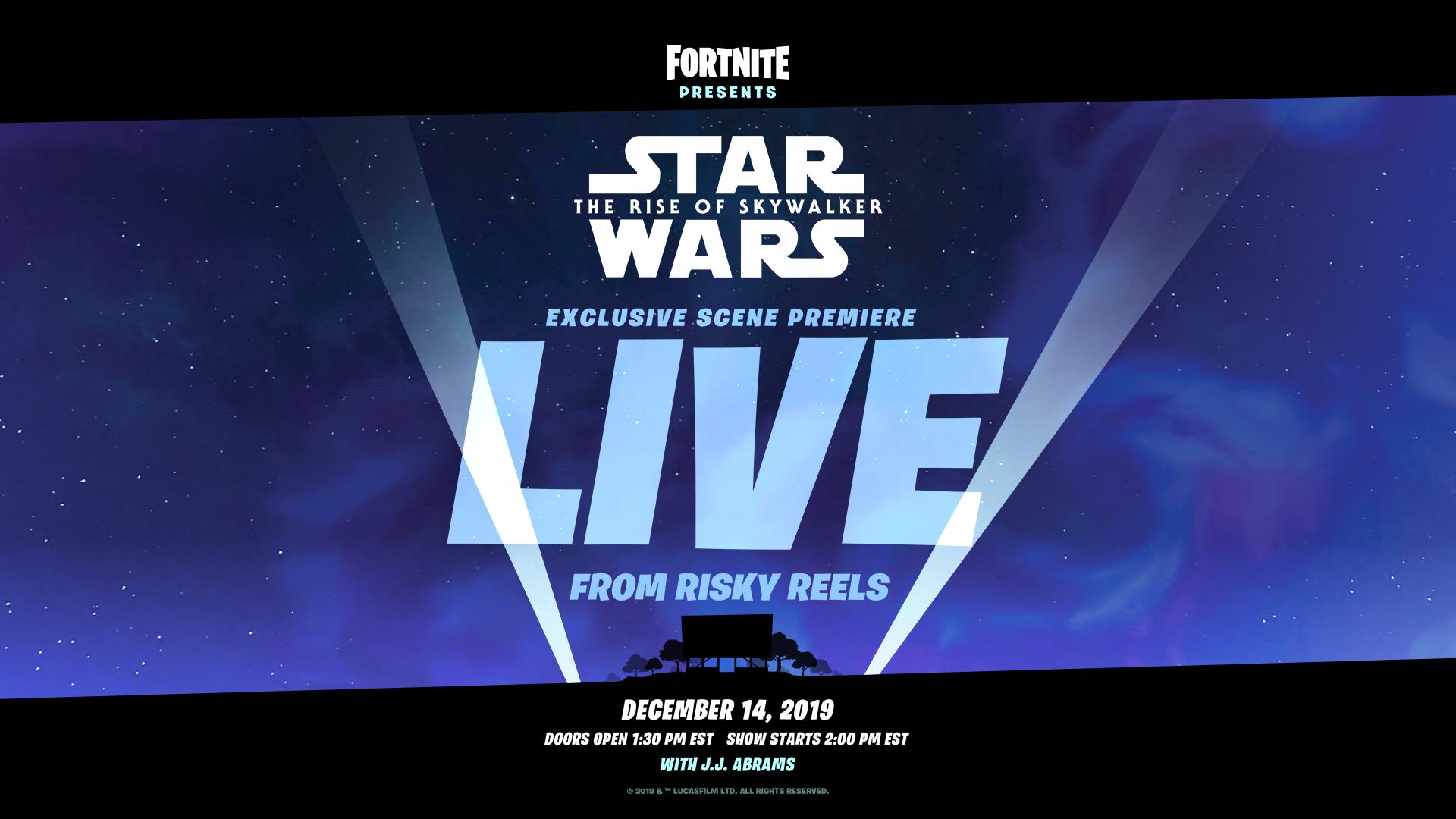《堡垒之夜》联动《星战9》:游戏将展示独家片段