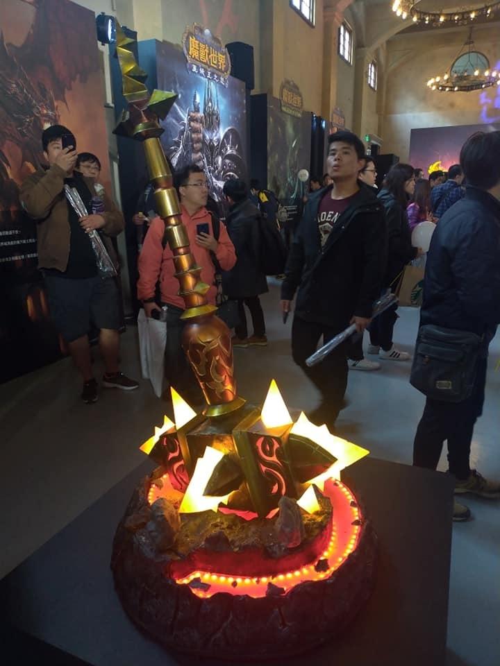 暴雪台湾举办《魔兽》15周年庆祝活动 展示神兵利器