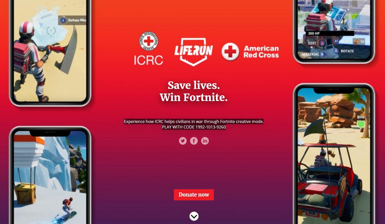 """红十字国际委员会联合《堡垒之夜》推出""""救命跑酷""""模式"""