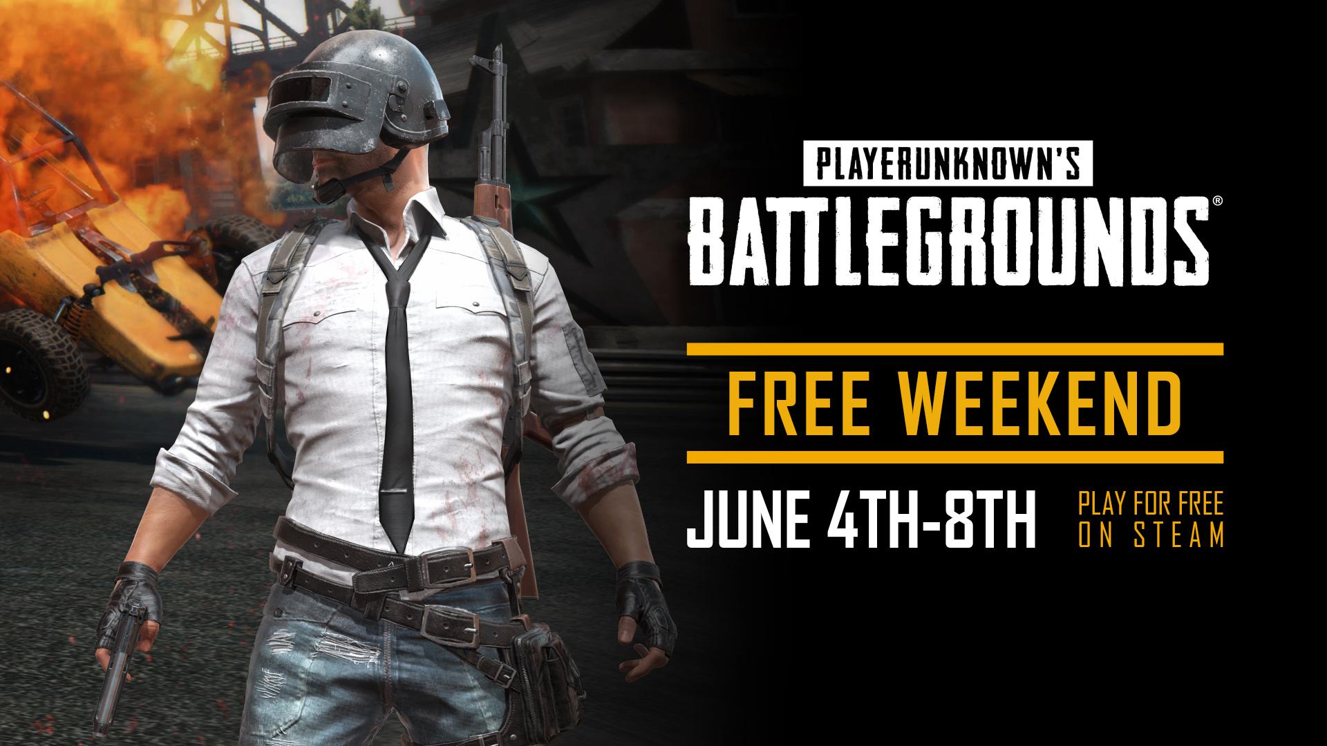 《绝地求生》Steam下周末免费开玩 限时半价优惠