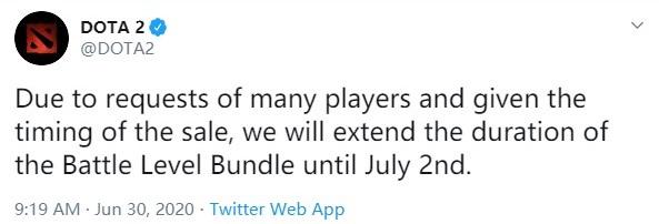 没买的该氪了 《DOTA2》勇士等级礼包延长至7月2日