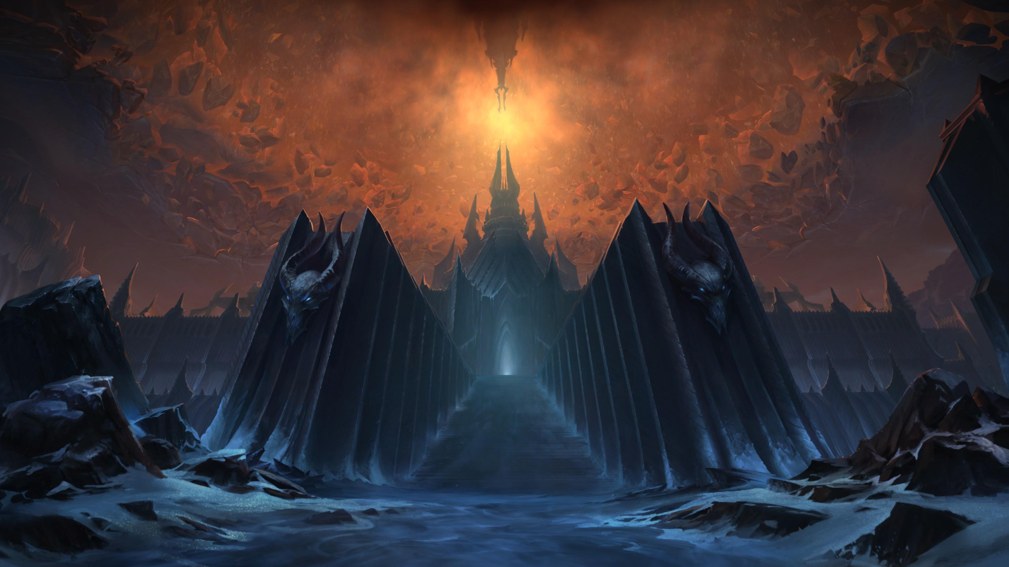 《魔兽世界:暗影国度》登陆界面曝光 冰冠堡垒霸气