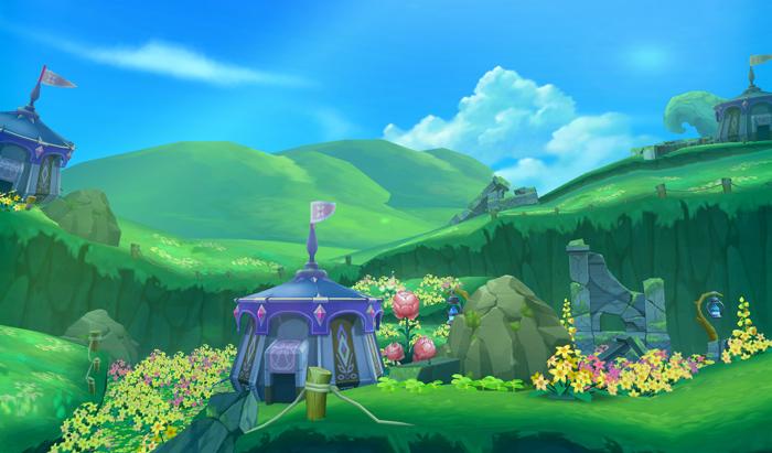 """诺亚最美副本《艾尔之光》全新副本""""白昼山丘上山道"""""""