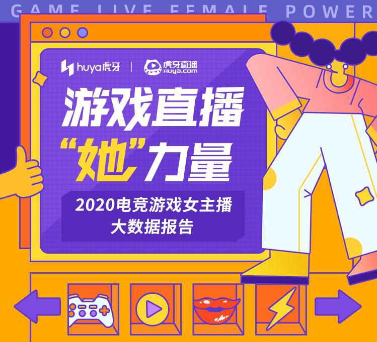 虎牙发布2020电竞游戏女主播报告:她们不甘辅助更爱输出