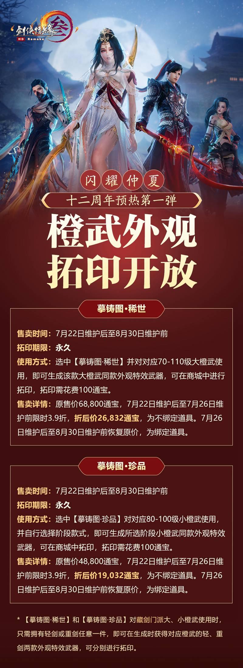 丰厚豪礼 全民纵享 《剑网3》十二周年预热第一弹盛大开幕