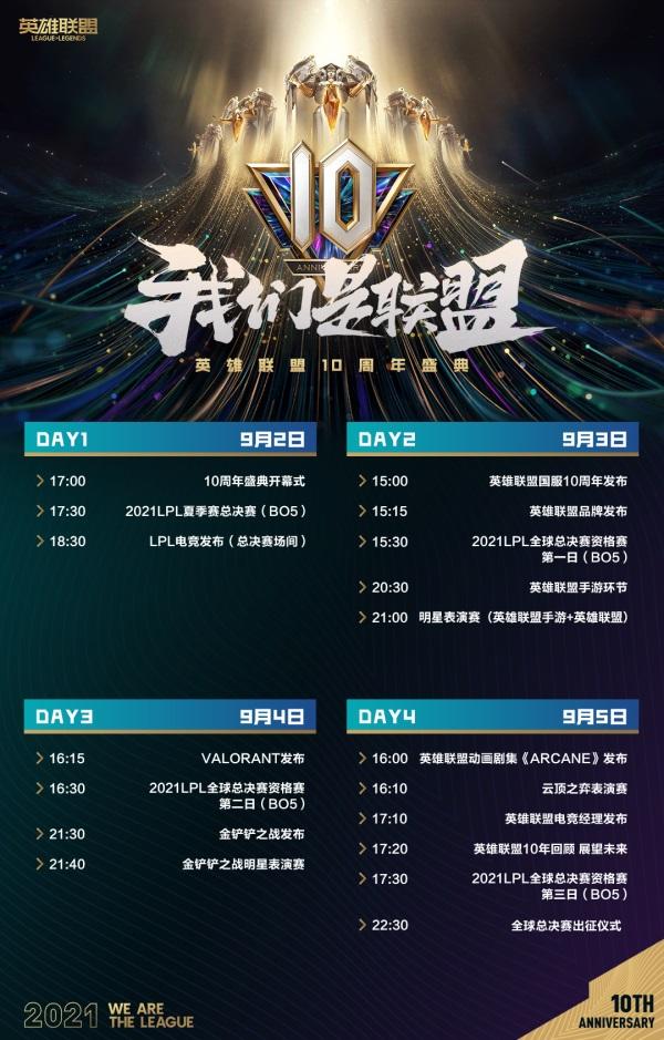 《英雄联盟》10周年盛典即将开启,邀请中国召唤师齐聚联盟