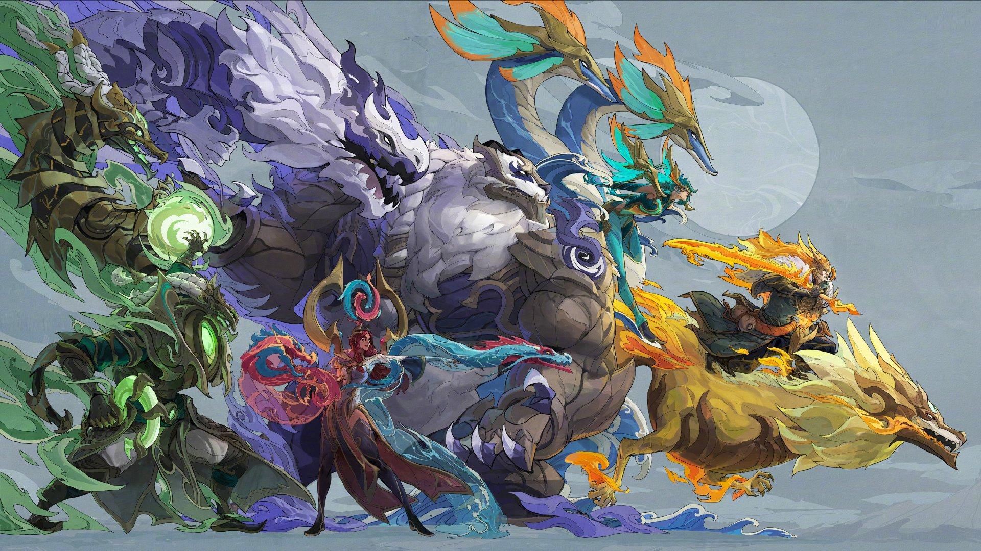 《英雄联盟》神龙尊者系列皮肤公布 特效炫酷插画华丽