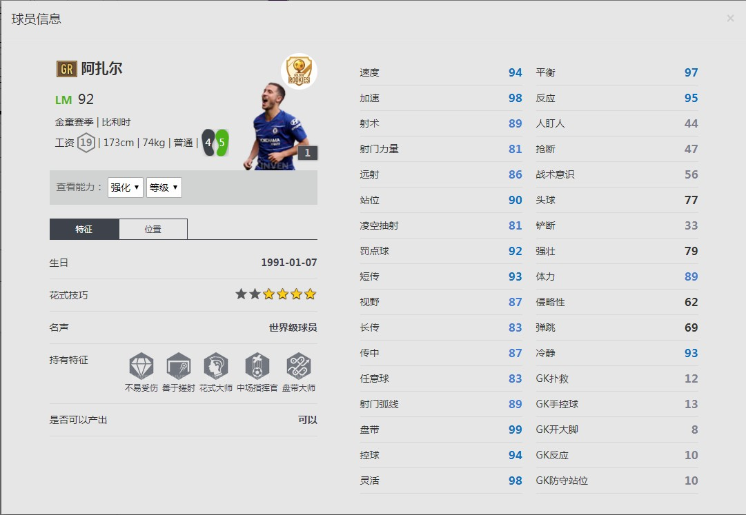 《FIFA online4》菲利佩·库蒂尼奥球员信息
