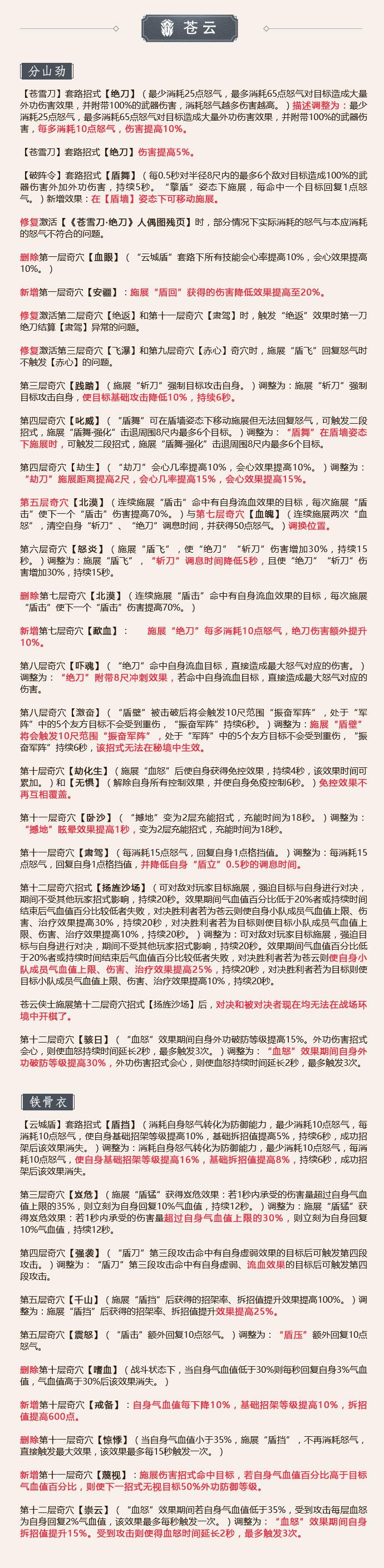 《剑网3》怒海争锋6月20日苍云技改