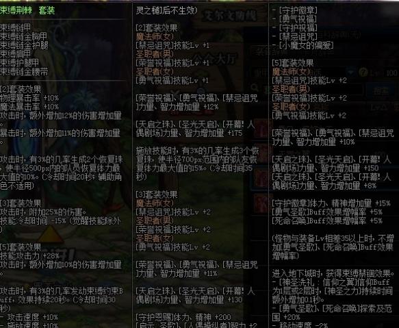 《DNF》风神100级防具选择