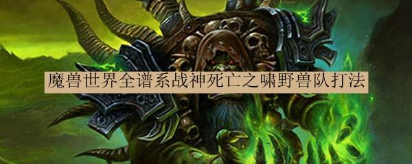 魔兽世界全谱系战神死亡之啸野兽队打法_魔兽世界全谱系战神死亡之啸野兽队怎么打