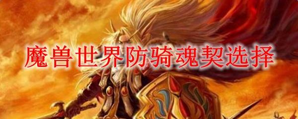 魔兽世界防骑魂契选择_wow9.0防骑用什么魂契天赋