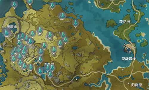 原神水晶块在哪里最多