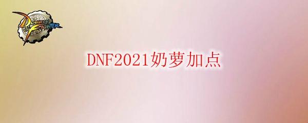 DNF2021奶萝加点