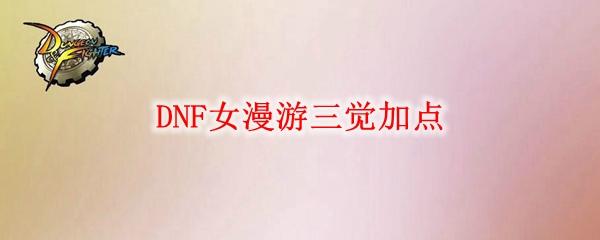 DNF女漫游三觉加点