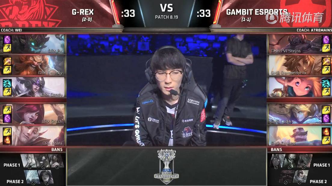 LOLS8总决赛10月3日GRX VS GMB比赛视频回顾