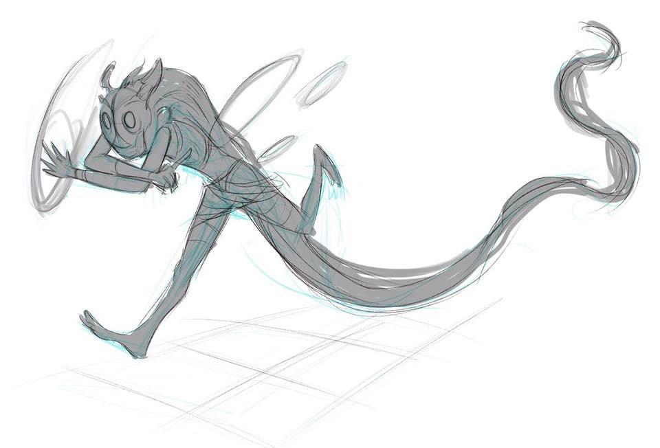 拳头艺术总监分享佐伊设计原稿,酷似星界游神巴德
