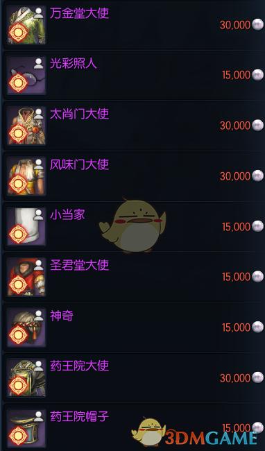 《剑灵》新钓鱼系统奖励一览