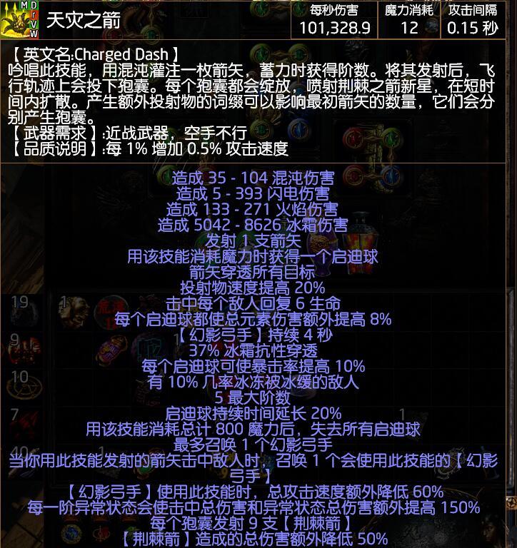 《流放之路》3.8千敏冰弓BD介绍