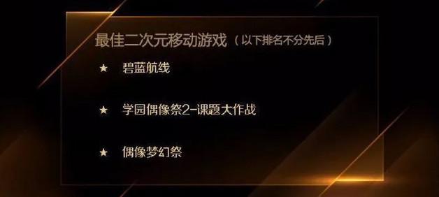 金翎奖最佳二次元手游猜想:谁是今年的最强候选?