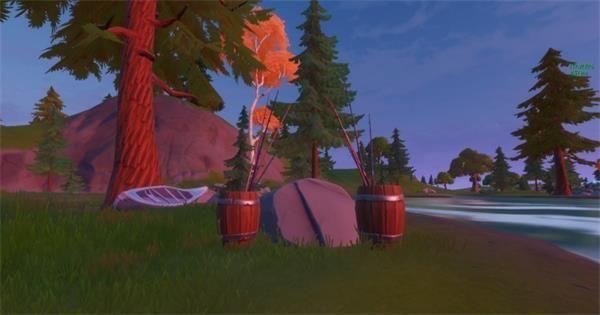 《堡垒之夜》使用鱼叉枪拖拽一名玩家或佣兵完成攻略